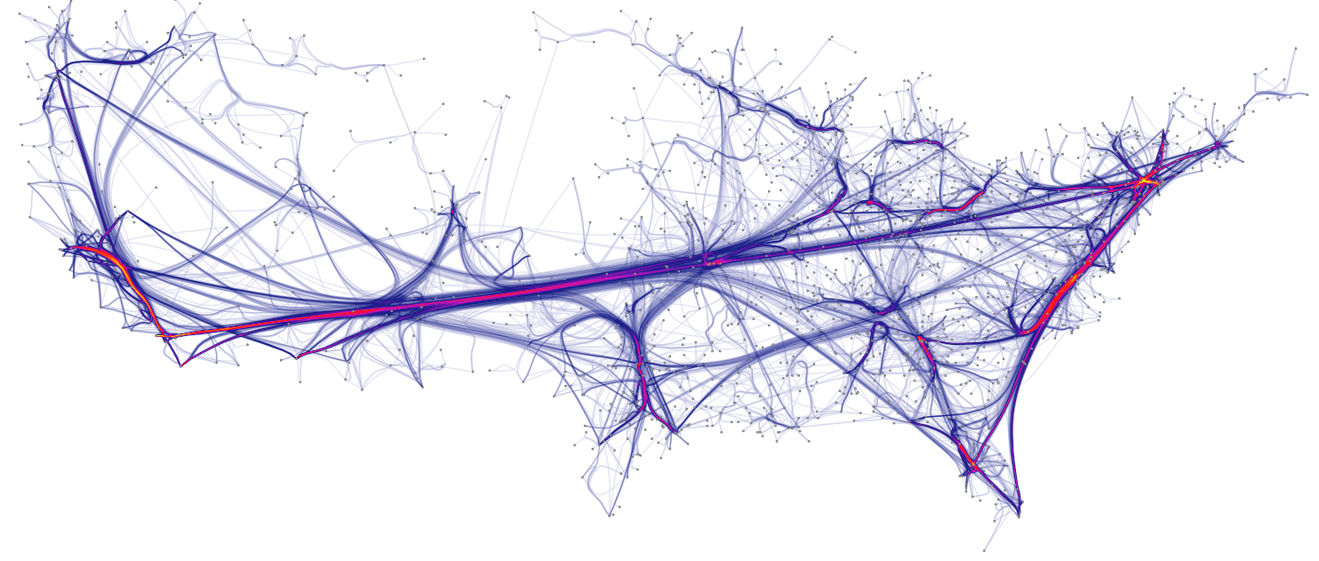 Hierarchical edge bundling – from Data to Viz