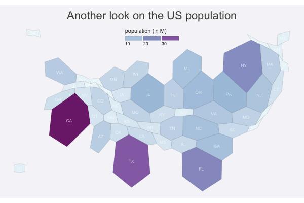 Cartogram – from Data to Viz