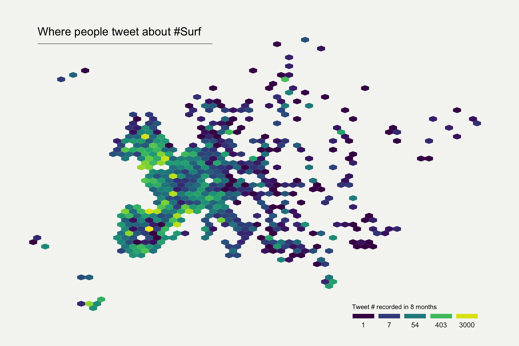 Hexbin map – from Data to Viz